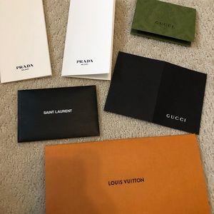 YSL LV gucci Prada paper envelopes packaging
